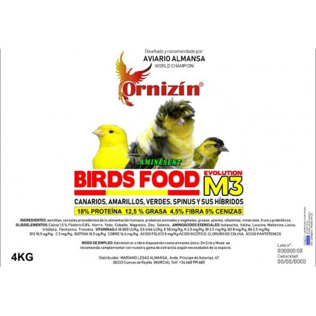 Birds Food M-3