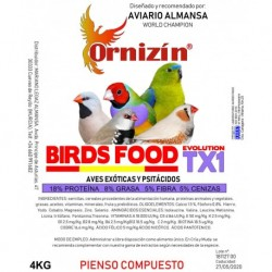 Ornizín Birds Food TX1